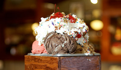 the kitchen sink sundae contest win free ice cream for a year - Man V Food Kitchen Sink
